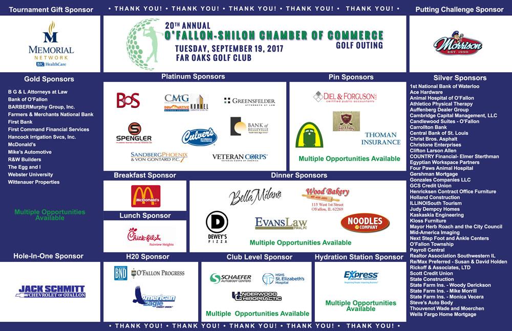 2017 golf tournament sponsors
