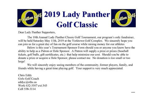 2019 Lady Panther Golf Classic